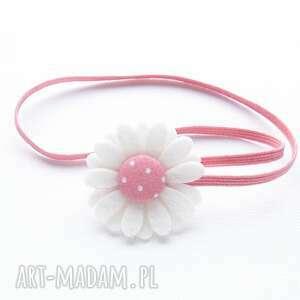 opaska do włosów z kwiatuszkiem peony pink, kwiatuszek, sesja foto, dziewczynki