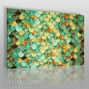 obrazy obraz na płótnie - arabeska łuski 120x80 cm 42801, łuski, arabeska, półkola