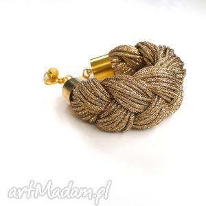 shine collection - gold plait, sznurki