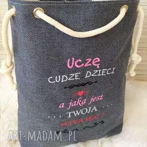 handmade na ramię torba worek dzień nauczyciela prezent