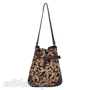 12-0012 Złota torba worek xxl torebka na zakupy SPARROW MAXI, duże, torby, damskie