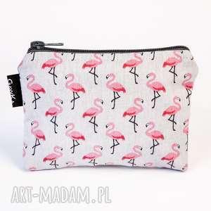 mała flamingowa, flaming, etui, kosmetyczka