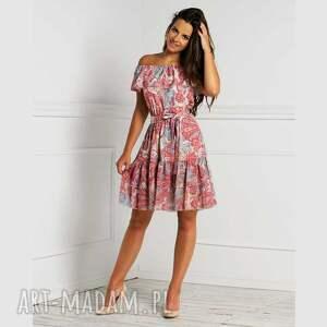 sukienka zoe mini medea, hiszpanka, z falbaną, mini
