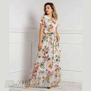 oryginalny prezent, sukienki sukienka mia maxi jackline, maxi