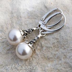kolczyki emia kolczyki srebrne z perłą b991
