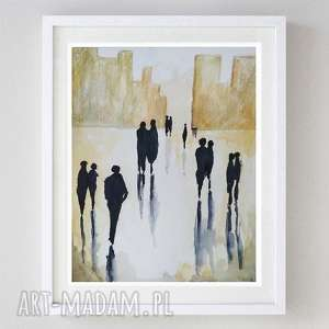 abstrakcja-akwarela formatu 18/24 cm, akwarela, ludzie, abstrakcja