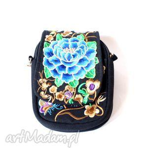 handmade na ramię torebka damska haftowana etniczna orientalna