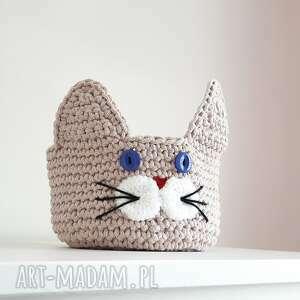 Kosz kotek pudełka cat a needle kosz, pojemnik, kot, kotek