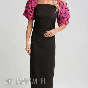 midlle sukienka z jedwabnymi rękawami, sylwestrowa sukienka, jedwabna