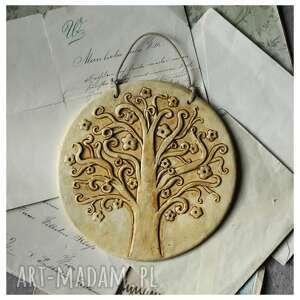 ceramika drzewo życia medalion, ceramika, drzewo