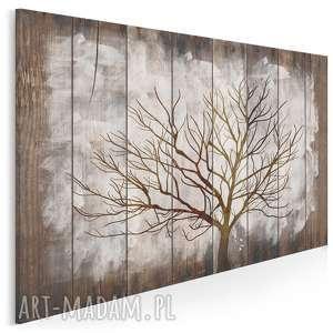 obraz na płótnie - drzewo drewno deski biały 120x80 cm (77401)