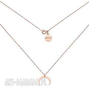 naszyjnik z różowego złota z księżycem - łańcuszek