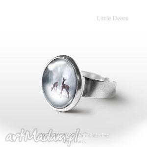 unikalny, pierścionek - sarenki, pierścionek, pierścień, sarny, sarna