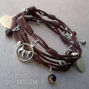 sznureczki, minimalistyczna, sznurek, sznurkowa, charms, węzły, bransoletka