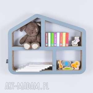 półka na książki zabawki domek ecoono szary - półka