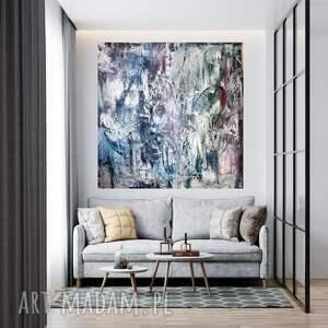 byferens obraz na płótnie ręcznie malowany 90x90, duży obraz, nowoczesny