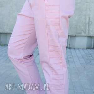 bawełniane spodnie z lampasem, lampasy, wstawka, bawełniane, surowy, lampas