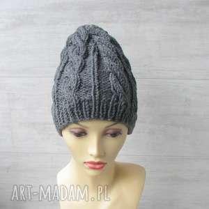 czapki gruba wełniana czapka, wełna, męska, zimowa na drutach