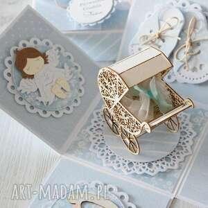 pudełko kartka chrzest lub narodziny, prezent