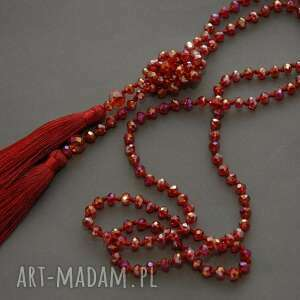 Czerwone korale z chwostami sisu chwost, wyjściowe, długie