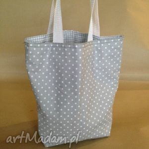handmade lunchbag mouse with dots