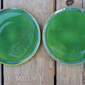 hand made ceramika talerz - zestaw talerzy dla dwojga