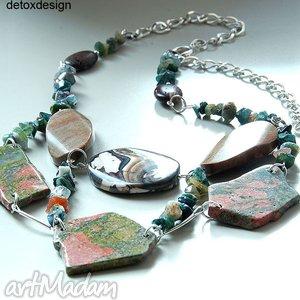 jest tylko jedna pora roku - polerowane, unakity, agaty, srebro, modna, biżuteria