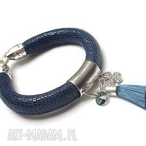 handmade bransoletki strap - petrol butterfly /14-07-17/