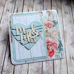 handmade scrapbooking kartki pastelowy ślub