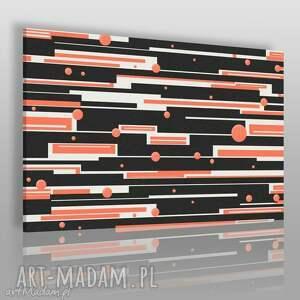 obrazy obraz na płótnie - abstrakcja paski kółka 120x80 cm 16501, paski, kreski