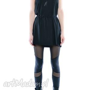 leggisny - futurystyczne tiulowo jerseyowe 2, czarne, wygodne, elastyczne