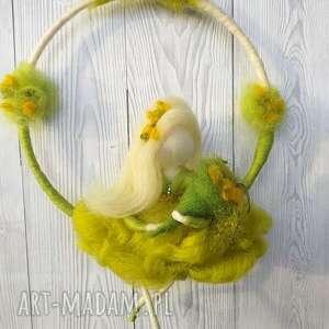 handmade pokoik dziecka wiosna. Wiosenna wróżka - mobil. Kolekcja jahreszeiten
