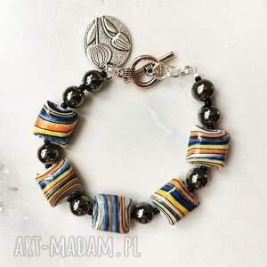 handmade bransoletka z porcelanowych korali w109