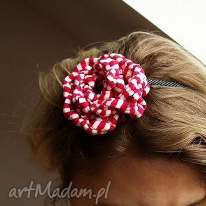 ozdoby do włosów kwiatek dla wariatek, opaska, fascynator, wiosennie, szalona