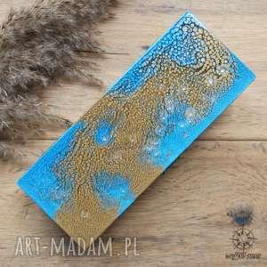 etui piórnik drewniany smok pustyni - ręcznie malowany, smok, smocza, skóra
