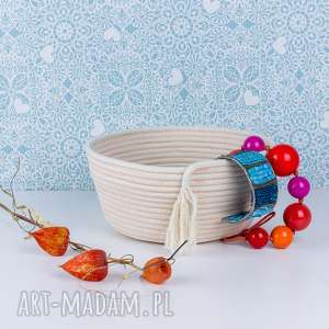pomysł na prezent BOHO KOSZ ze sznurka, przechowywanie, nadrobiazgi, dladomu,