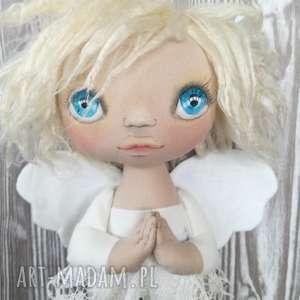 hand-made dekoracje aniołek dekoracja ścienna - figurka tekstylna ręcznie szyta