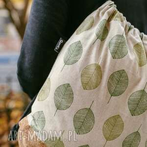 Korkowy w liście gawka worek, workoplecak, liście,