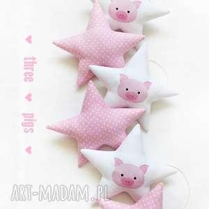 PIGGY - girlanda, gwiazdki, świnka, piggy