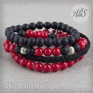 Krwista czerwień i matowa czerń - ,czarny,matowy,czerwony,rock,gumka,