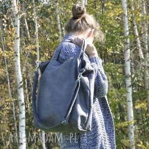 święta, torba hobo xxl - grafit, worek, hobo, sztuczny zamsz
