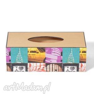 chustecznik - pudełko na chusteczki nowy jork, chustecznik, podróże, prezent