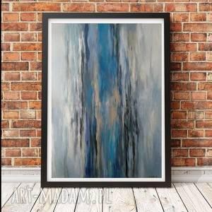 abstrakcja - obraz akrylowy formatu 70/100 cm, obraz, akryl, abstrakcja, duży