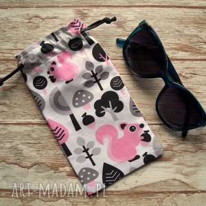 Prezent Etui / Bawełniany woreczek na okulary, słoneczne, zwierzaki, prezent