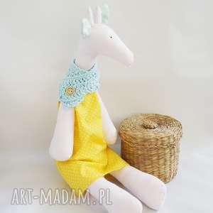 żyrafka tilda vairatka handmade - dziewczynka, maskotka, zabawka