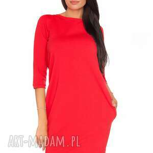 sukienka halina 6, wygodna, swobodna, elegancka, ściągacz, wiązana, kieszenie ubrania