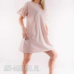 trzyforu sukienka urocza w kolorze latte, sukienka, t shirt, bluza, spódnica