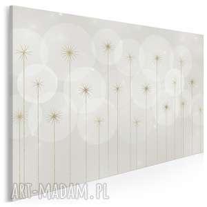 Obraz na płótnie - kwiaty abstrakcja 120x80 cm 66001 vaku dsgn