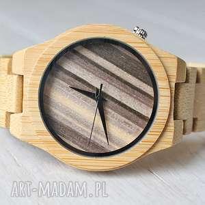 Drewniany zegarek WOODEN ZEBRA, drewniany, zegarek, bransoleta, ekologiczny, męski