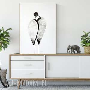 grafika 50x70 cm wykonana ręcznie, plakat, abstrakcja, elegancki minimalizm, obraz